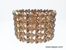 18 Karat Yellow Gold Wide Italian Made Bracelet