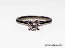 Palladium Diamond Solitaire Engagement Ring