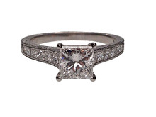 Platinum Princess Cut Diamond Engagement Ring By Martin Flyer