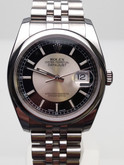 Stainless Steel Mens Rolex Datejust with Tuxedo Dial