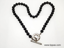 Tiffany & Co. Onyx and Silver Toggle Necklace