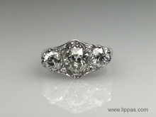 Edwardian Platinum Diamond Three Stone Ring