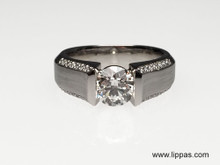 Platinum Custom Made Diamond Engagement Ring