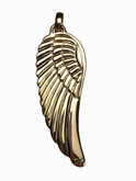 "18 Karat Yelow Gold Custom Designed ""Wing"" Pendant"