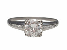 Platinum 1940's Diamond Engagement Ring
