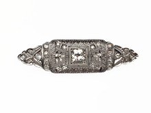 Platinum Edwardian Diamond Brooch / Pendant