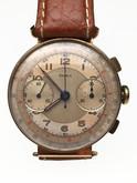 14 Karat Yellow Doxa Chronograph Wrist Watch