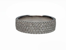 18 Karat White Gold 5 Row Diamond Eternity Band