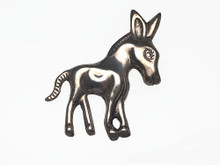 Mexican Silver Donkey Brooch