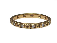 18 Karat Yellow Gold and Diamond Alex Sepkus Design Eternity Band