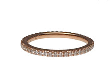 18 Karat Rose Gold Thin Diamond Eternity Band