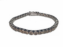 14 Karat White Gold Champagne Diamond Tennis Bracelet