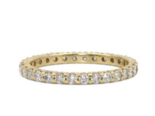 14 Karat Yellow Gold 0.97 Carat Total Weight Eternity Band