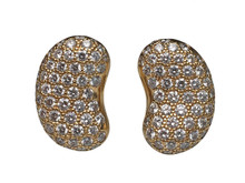 "18 Karat Yellow Gold  Diamond Tiffany & Co. ""Bean"" Earrings"