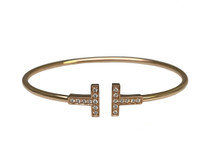 Tiffany & Co. 18 Karat Rose Gold T Bracelet