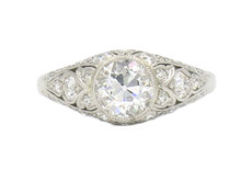 Platinum Edwardian Old European Diamond Ring