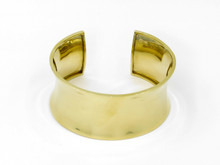 14 Karat Yellow Gold Wide Bangle Cuff Bracelet