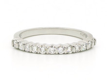 Platinum Bar Set Diamond Band