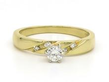 14 Karat Yellow Gold Diamond Engagement Ring