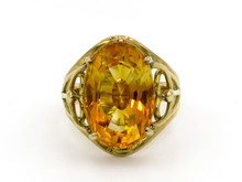 18 Karat Yellow Gold Citrine Ring