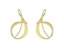 14 Karat Yellow Gold Ed Levin Allegro Earrings