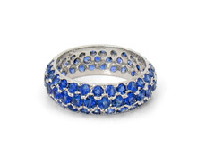 18k White Gold & Sapphire Eternity Band
