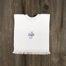 2 Girl Bibs with 1st Initial & Name