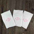 3 Letter Monogram Girl Burp Pads