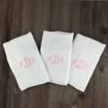 3 Letter Monogram Girl Burp Pads