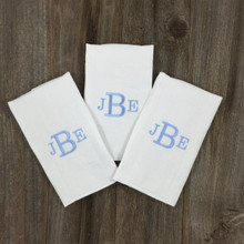 3 Letter Monogram Boy Burp Pads