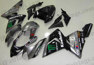 Kawasaki ZX10R 2004 2005 Monster replica fairing kits, this Kawasaki ZX10R 2004 2005 plastics was applied in Monster replicagraphics, this 2004 2005 ZX10R fairing set comes with the both color and decals shown as the photo.If you want to do custom fairings for ZX10R 2004 2005,our talented airbrusher will custom it for you.