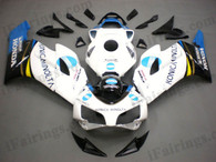 Honda CBR1000RR 2004 2005 KONICA MINOLTA fairing kits, this Honda CBR1000RR 2004 2005 plastics was applied in KONICA MINOLTAgraphics, this 2004 2005 CBR1000RR fairing set comes with the both color and decals shown as the photo.If you want to do custom fairings for CBR1000RR 2004 2005,our talented airbrusher will custom it for you.