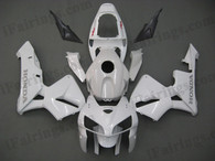 Honda CBR600RR 2005 2006 pearl whitefairing kits, this Honda CBR600RR 2005 2006 plastics was applied in pearl whitegraphics, this 2005 2006 CBR600RR fairing set comes with the both color and decals shown as the photo.If you want to do custom fairings for CBR600RR 2005 2006,our talented airbrusher will custom it for you.