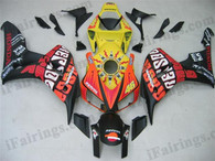 Honda CBR1000RR 2006 2007 Rossi Repsol fairing kits, this Honda CBR1000RR 2006 2007 plastics was applied in Rossi Repsolgraphics, this 2006 2007 CBR1000RR fairing set comes with the both color and decals shown as the photo.If you want to do custom fairings for CBR1000RR 2006 2007,our talented airbrusher will custom it for you.