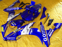 Yamaha YZF-R1 2004 2005 2006 GO!!! repilca fairing kits, this Yamaha YZF-R1 2004 2005 2006 plastics was applied in GO!!! repilcagraphics, this 2004 2005 2006 YZF-R1 fairing set comes with the both color and decals shown as the photo.If you want to do custom fairings for YZF-R1 2004 2005 2006,our talented airbrusher will custom it for you.
