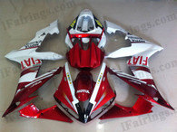 Yamaha YZF-R1 2004 2005 2006 Fait replica fairing kits, this Yamaha YZF-R1 2004 2005 2006 plastics was applied in Fait replicagraphics, this 2004 2005 2006 YZF-R1 fairing set comes with the both color and decals shown as the photo.If you want to do custom fairings for YZF-R1 2004 2005 2006,our talented airbrusher will custom it for you.