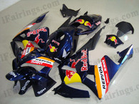 Honda CBR600RR 2005 2006 dark blue RedBull fairing kits, this Honda CBR600RR 2005 2006 plastics was applied in dark blue RedBullgraphics, this 2005 2006 CBR600RR fairing set comes with the both color and decals shown as the photo.If you want to do custom fairings for CBR600RR 2005 2006,our talented airbrusher will custom it for you.