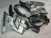 Honda CBR600 F4i 2004 2005 2006 2007 grey/silver fairing kits, this Honda CBR600 F4i 2004 2005 2006 2007 plastics was applied in grey/silver graphics, this 2004 2005 2006 2007 CBR600 fairing set comes with the both color and decals shown as the photo.If you want to do custom fairings for CBR600 F4i 2004 2005 2006 2007,our talented airbrusher will custom it for you.
