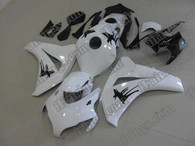 Honda CBR1000RR 2008 2009 2010 2011 pearl white fairing kits, this Honda CBR1000RR 2008 2009 2010 2011 plastics was applied in pearl whitegraphics, this 2008 2009 2010 2011 CBR1000RR fairing set comes with the both color and decals shown as the photo.If you want to do custom fairings for CBR1000RR 2008 2009 2010 2011,our talented airbrusher will custom it for you.