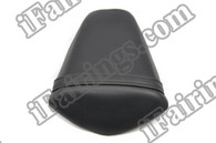 Black rear pillion passenger seat for 2011 2012 Kawasaki Ninja ZX10R. it is made of synthetic Leather, high-density foam, high quality ABS plastic and comes with all the mounting brackets.