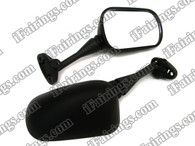 aftermarket/compatible rear/side view mirrors for Honda CBR600 F4 1999 2000. This replacement mirrors is high impact ABS plastic made and fit your bike perfect.