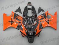 Honda F3 1995 1996 CBR600 orange and black fairings - iFairings.com