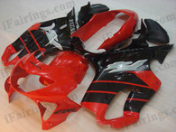 Quality fairing kits for 1999 2000 Honda CBR600 F4 with red and black scheme, this replacement fairings sets are oem comparable and fast shipping world-wide.