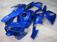 Quality aftermarket fairing kits for 2003 2004 Honda CBR600RR with blue color scheme/graphics. These body kits are 2003 2004 Honda CBR600RR replacement bodywork, they are oem quality, fast shipping and easy installation.