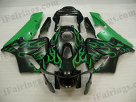 Honda CBR600RR 2003 2004 HANNspree fairing kits, this Honda CBR600RR 2003 2004 plastics was applied in HANNspree graphics, this 2003 2004 CBR600RR fairing set comes with the both color and decals shown as the photo.If you want to do custom fairings for CBR600RR 2003 2004,our talented airbrusher will custom it for you.