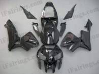 OEM factory quality fairings and body kits for 2005 2006 Honda CBR600RR with black color scheme/graphics, this oem replacement fairing sets are oem quality, fast shipping and easy installation. The 2005 2006 CBR600RR fairings can also be customized.