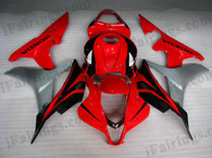 Oringal quality fairings for 2007 2008 Honda CBR600RR with red and black color scheme/graphcis. These aftermarket fairing kits are oem factory quality, fast shipping and easy installation. The replacement fairings for 2007 2008 CBR600RR can be customized.