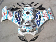 Honda CBR1000RR 2004 2005 Nastro Azzurro fairing kits, this Honda CBR1000RR 2004 2005 plastics was applied in Nastro Azzurrographics, this 2004 2005 CBR1000RR fairing set comes with the both color and decals shown as the photo.If you want to do custom fairings for CBR1000RR 2004 2005,our talented airbrusher will custom it for you.