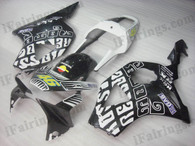 OEM quality fairings and body kits for 2002 2003 Honda CBR954RR with Rossi Repsol MotoGP color scheme/graphics, these fairing kits are oem quality, fast shipping and easy installtion. More factory color-matched fairings for CBR954RR 2002 2003, team race replica fairings and custom fairing sets for Honda CBR954RR 2002 2003, please browse iFairings.com.