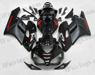 Honda CBR1000RR 2004 2005 glossy/matt black fairing kits, this Honda CBR1000RR 2004 2005 plastics was applied in glossy/matt blackgraphics, this 2004 2005 CBR1000RR fairing set comes with the both color and decals shown as the photo.If you want to do custom fairings for CBR1000RR 2004 2005,our talented airbrusher will custom it for you.